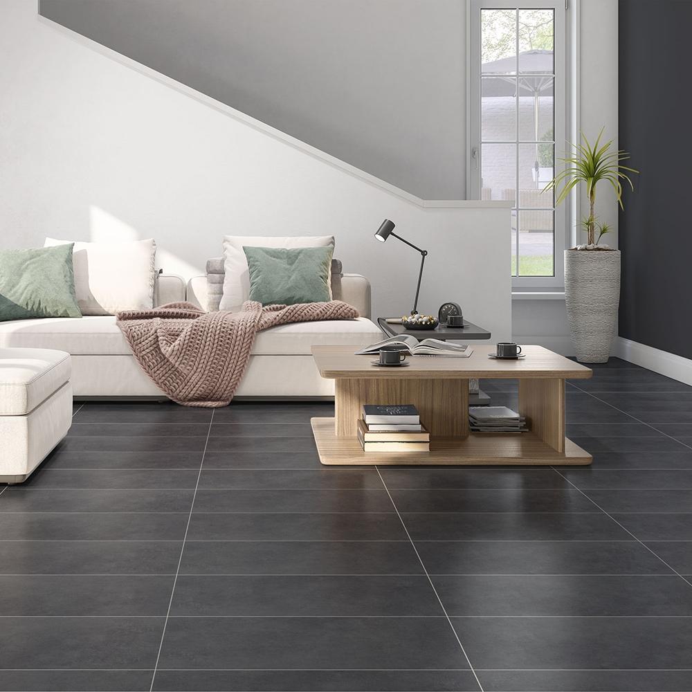 ark black matte porcelain tiles 12x24