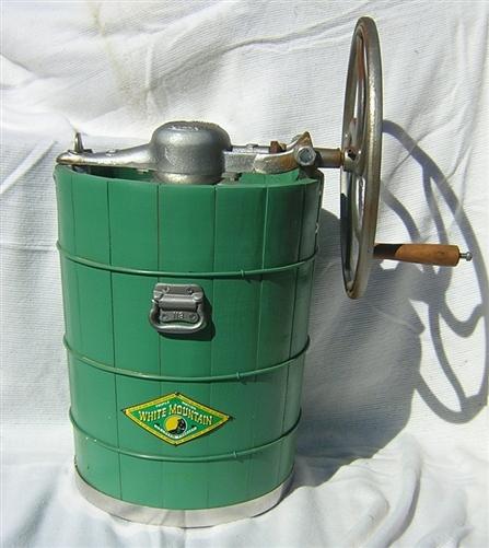 Gallon Ice Cream Maker White Oak Wood Tub