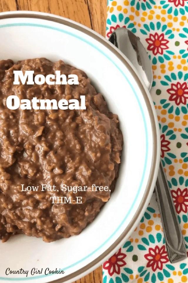 Mocha Oatmeal (Low Fat, Sugar-free, THM-E)