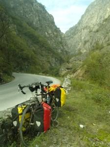 The narrow gorge outside of Prizren