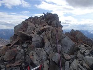 Me on the airy summit of Peak 46