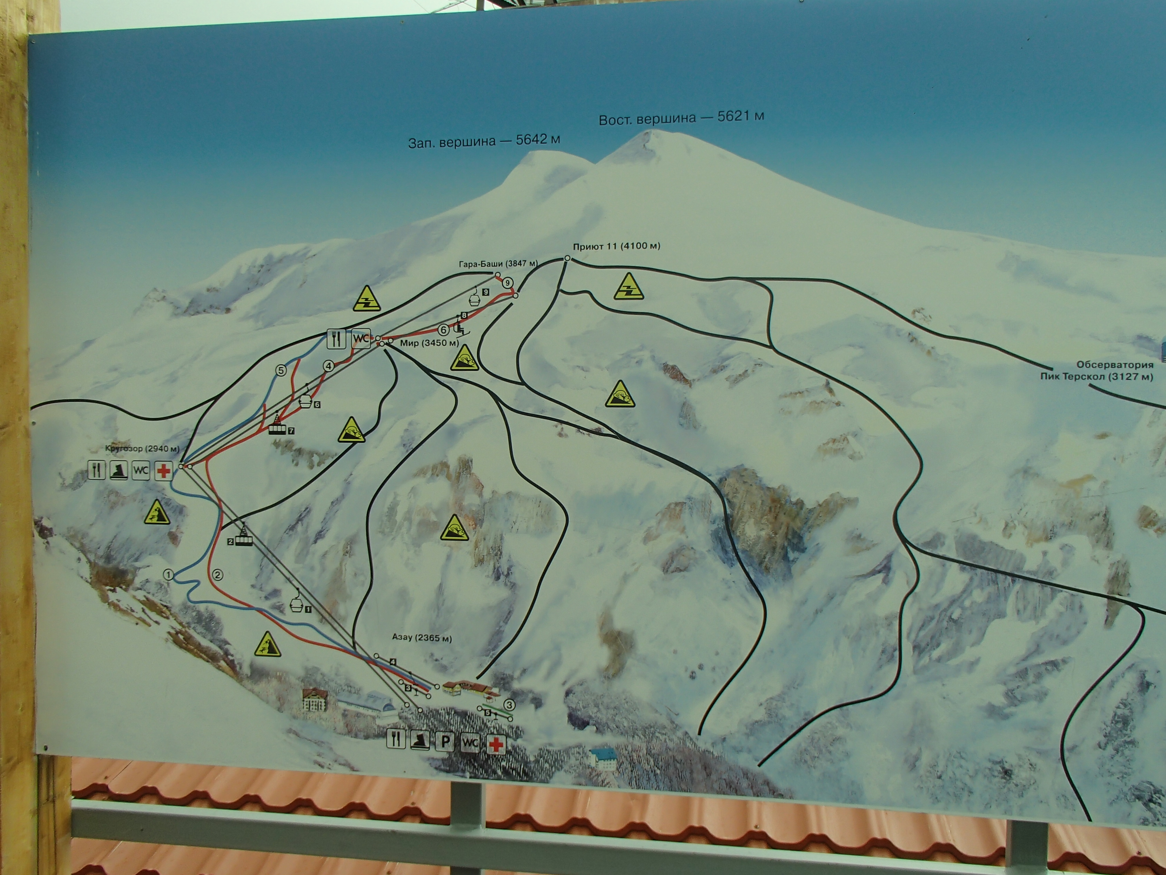 Russia Mount Elbrus Country Highpoints - Mt elbrus map