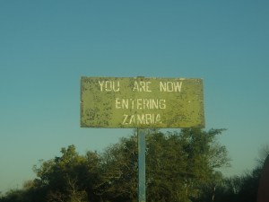 Entering Zambia, country number 100.