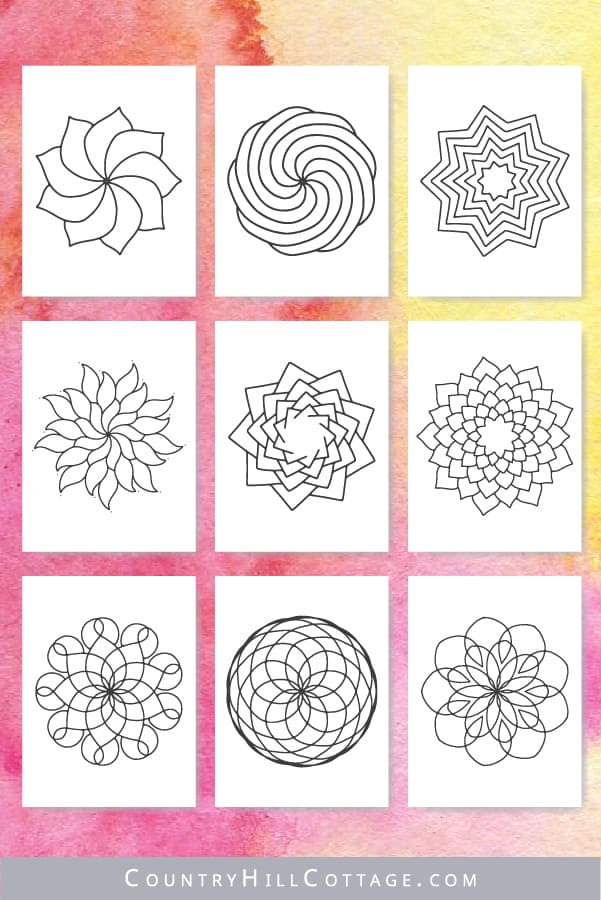 Indoor activities for preschoolers: Mandala coloring pages