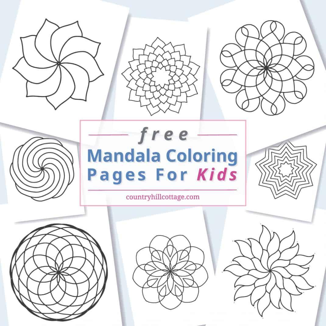 Mandala Coloring Pages For Kids 10 Free Printable Worksheets
