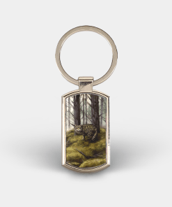 Country Images Custom Customised Customise Personalise Personalised Lozenge Metal Keyring Highland Collection Wild Cat Gift Gifts