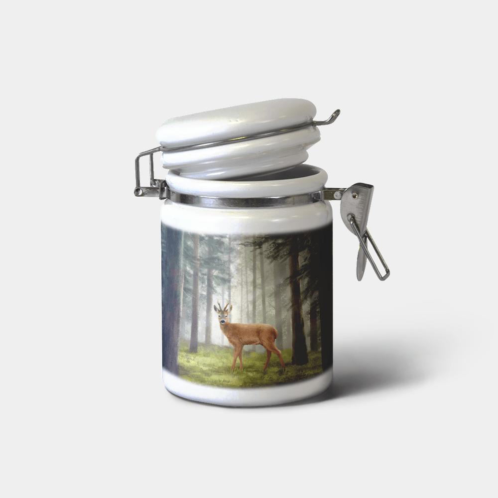 Country Images Personalised Custom Ceramic Hinged Storage Jars Highland Collection Roe Roebuck Deer Buck Gifts