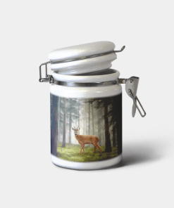 Country Images Personalised Custom Ceramic Hinged Storage Jars Highland Collection Roe Roebuck Deer Buck Gifts