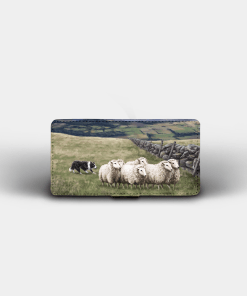 Country Images Personalised Custom Customised Flip Phone Cover Case Scotland Scottish Highlands Sheep Sheepdog Sheepdogs Crofter Crofting Gift Gifts