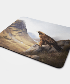 Country Images Personalised Fabric Custom Customised Mousemat Cheap Scotland UK Golden Eagle Scottish Bird of Prey Gift Gifts Ideas