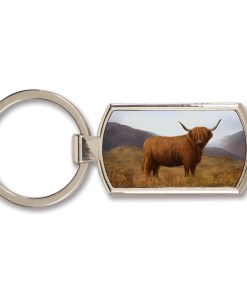 Highland Collection - Lozenge Keyring (Highland Cow)