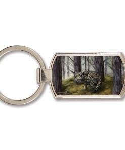 Highland Collection - Lozenge Keyring (Wild Cat)