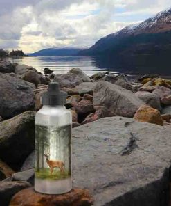 Highland Collection - Aluminium Reusable Environmentally Friendly Water Bottle (Roe Buck) Personalised Gift