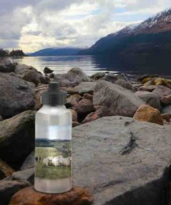 Highland Collection - Aluminium Reusable Environmentally Friendly Water Bottle (Sheep & Sheepdog) Personalised Gift