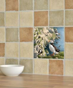 Highland Collection - Ceramic Tile (Puffin)
