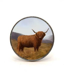 Highland Collection - Circular Magnet (Highland Cow)