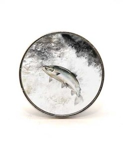 Highland Collection - Circular Magnet (Leaping Salmon)