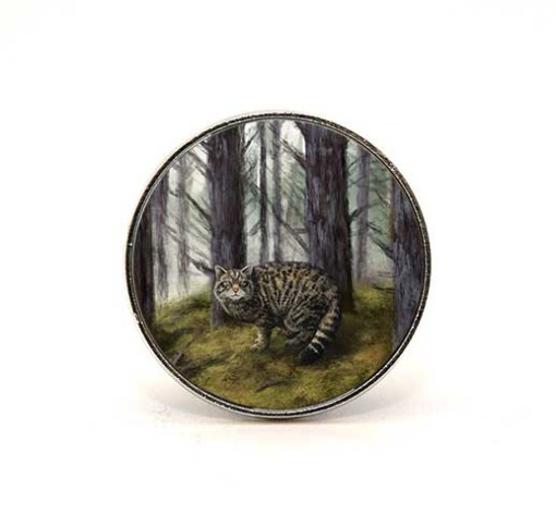 Highland Collection - Circular Magnet (Wild Cat)
