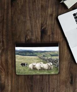 Highland Collection - Flip iPad Case (Sheep & Sheepdog) Personalised Gift