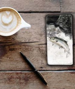 Highland Collection - Flip Phone Case (Leaping Salmon) Personalised Gift