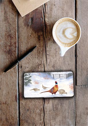 Highland Collection - Flip Phone Case (Pheasant) Personalised Gift