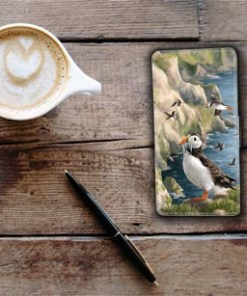 Highland Collection - Flip Phone Case (Puffin) Personalised Gift