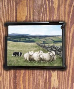 Highland Collection - iPad Shell Case (Sheep & Sheepdog) Personalised Gift