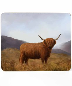 Highland Collection - Mousemat (Highland Cow) Personalised Gift