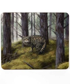 Highland Collection - Mousemat (Wild Cat) Personalised Gift