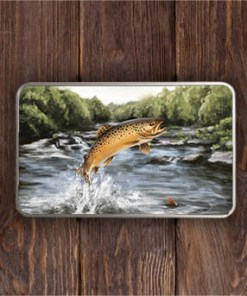 Highland Collection - Rectangular (Brown Trout) Personalised Gift