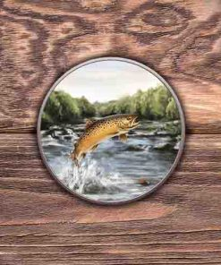Highland Collection - Round (Brown Trout) Personalised Gift