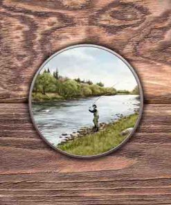 Highland Collection - Round (Fly Fishing) Personalised Gift