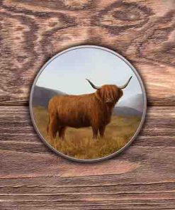 Highland Collection - Round (Highland Cow) Personalised Gift