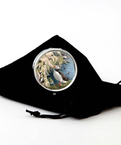Highland Collection - Round Pill Box (Puffin)