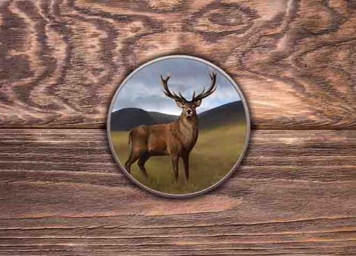 Highland Collection - Round (Stag) Personalised Gift