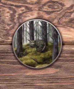 Highland Collection - Round (Wild Cat) Personalised Gift
