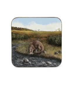 Highland Collection - Square Coaster (Otter) Personalised Gift