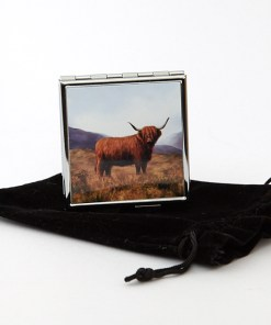 Highland Collection - Square Pill Box (Highland Cow)