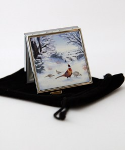 Highland Collection - Square Pill Box (Pheasant)