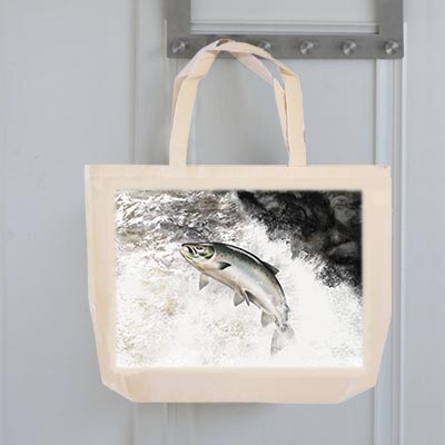 Highland Collection - Tote Bag (Leaping Salmon) Personalised Gift