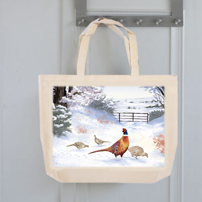Highland Collection - Tote Bag (Pheasant) Personalised Gift