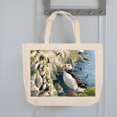 Highland Collection - Tote Bag (Puffin) Personalised Gift