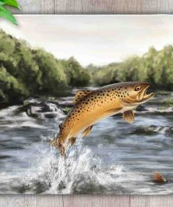 Highland Collection - Worktop Saver (Brown Trout) Personalised Gift