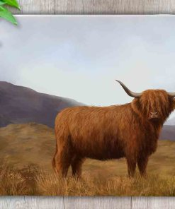 Highland Collection - Worktop Saver (Highland Cow) Personalised Gift