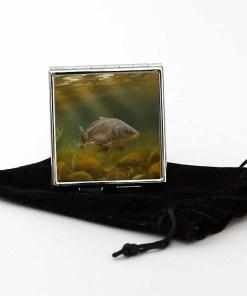 Square Pill Box Personalised Gift (Mirror Carp)