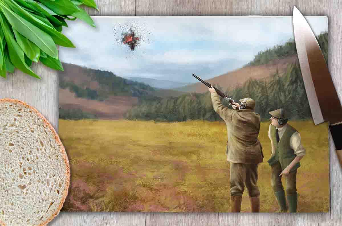 Worktop Saver (Clay Shooting) Personalised Gift