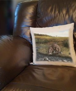 Highland Collection - Linen Style Cushion (Otter) Personalised Gift
