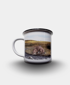 Country Images Personalised Custom Printed White Black Mug Scotland Cheap Highland Collection Otter Otters Wildlife Gift Gifts 2