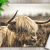 Country Images Personalised Glass Worktop Saver Chopping Cutting Board Kitchen Gift Gifts Idea Ideas Highland Cow Scotland Scottish 1