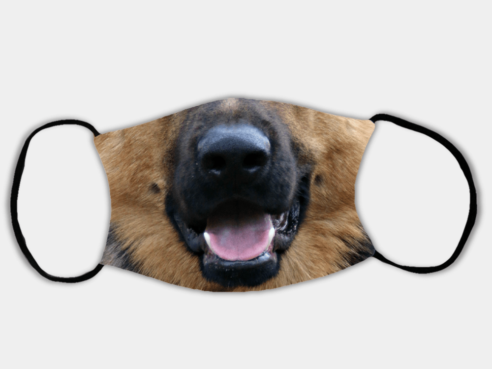 Country Images Personalised Custom Face Mask Masks Facemask Facemasks UK Scotland Gifts Dog German Shepherd Gift
